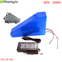 Customize LG Cell 60V 30ah Lithium Ion Battery Triangle Style Rechargeable 60V 2000W Electric Bike Battery