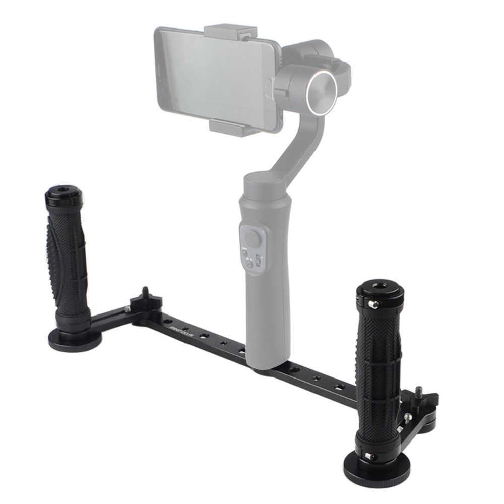 MINIFOCUS DH Dupla Pega para zhiyun Suave 3-Eixo Cardan Estabilizador handheld Estendido Placa Inferior Bracket Set acessórios