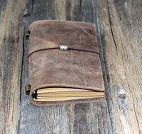 100 High Quanlity 2015 New Fashion Vintage Style Notebook Journal Diary Blank Genuine Leather D0408
