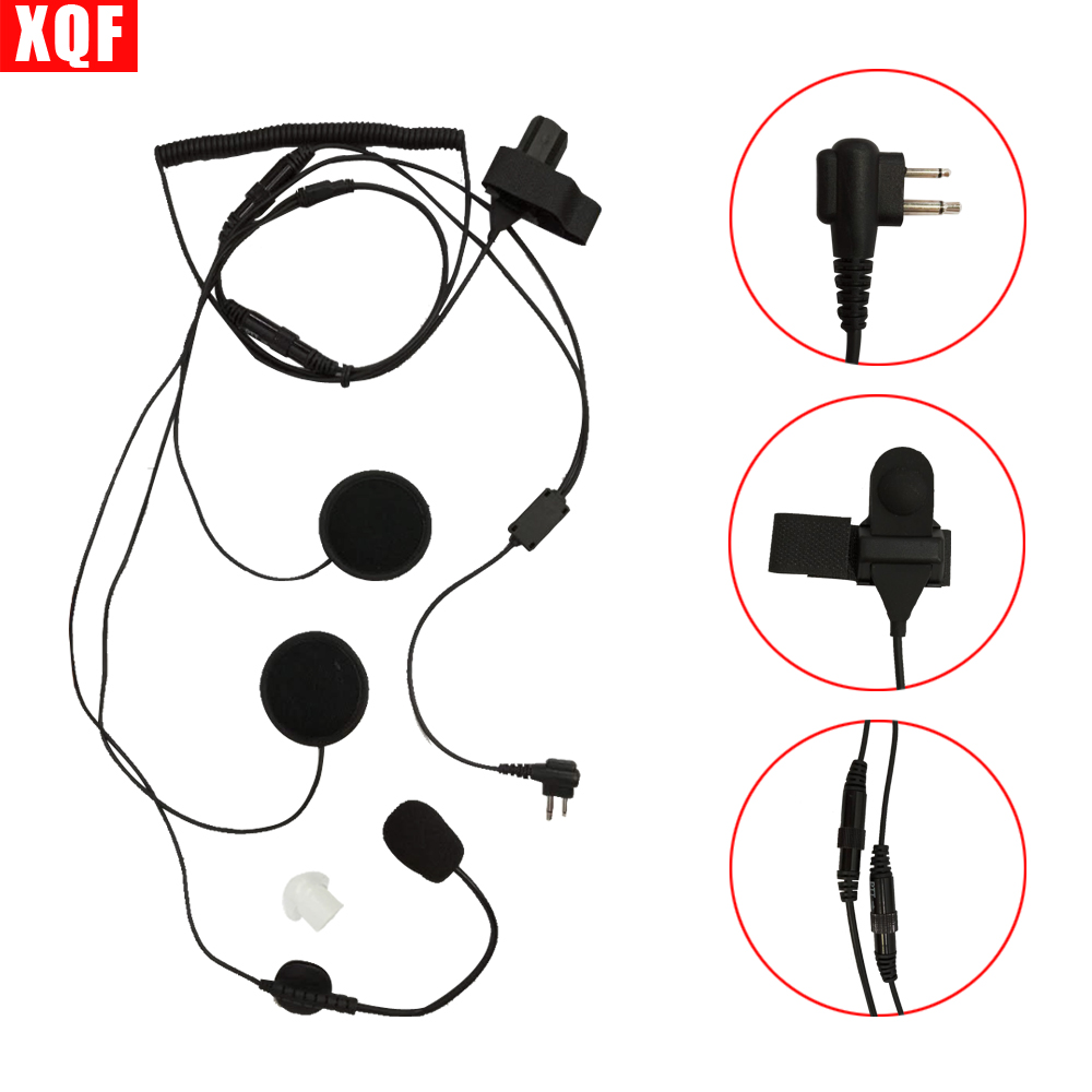 Open/Half Face Motorcycle Bike Helmet Earpiece Headset Mic Microphone For Motorola Two Way Radio Walkie Talkie 2pin CP100, CP125