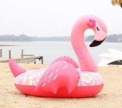 150 CM 60 Inch Riesen Aufblasbare Flamingo Pool Float einhorn Fahrt-Auf Schwimmen Ring Wasser Urlaub Partei Spielzeug Piscina