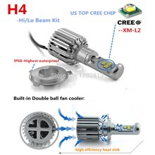 2Pcs CREE Chips 9003/HB2/H4 High Low Beam LED Conversion H4 LED Headlight Bulbs 60W 36000LM for Replacing Halogen And HID Bulbs