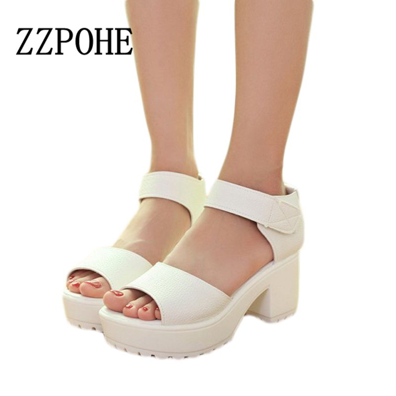 ZZPOHE 2017 Summer new fashion Women sandals rough with waterproof sandals fish head platform shoes thick soles Female sandals slope with super high heels 14cm platform shoes sandals and slippers spring and summer fish head thick crust waterproof shoes
