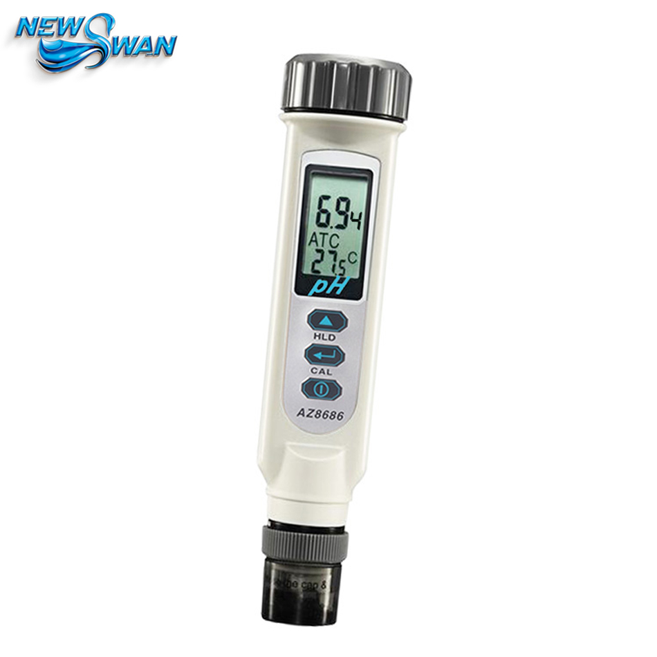 AZ8686 Portable PH Meter Tester Pen Aquarium Fruit PH Analyzer with Temperature Compensation 0.2pH