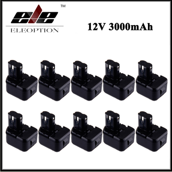 10 pcs/lot 12V 3000mAh Ni-MH Replacement Power Tool Battery for Hitachi EB1212S EB1214L EB1214S DS 10DTA WH 12DAF