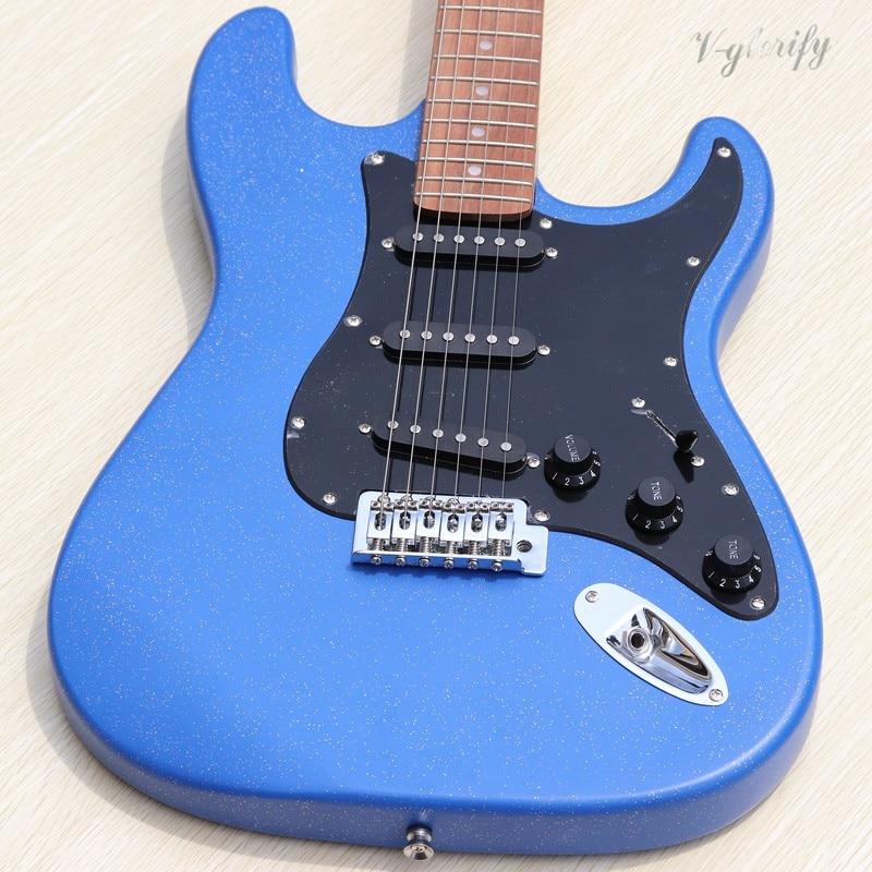 Guitare électrique 6 cordes avec micros, fretboard en palissandre, offre spéciale d'usine