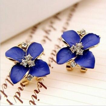 Matte Colored Flowers Earrings 5