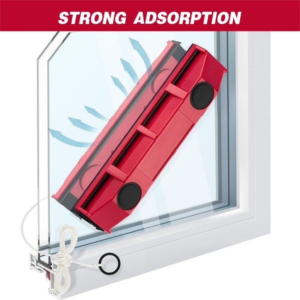 De vidrio herramienta de limpieza con tela para uso en el hogar 1 unid magnética ventana limpiador para acristalamiento de Windows de depurador cepillo de limpieza