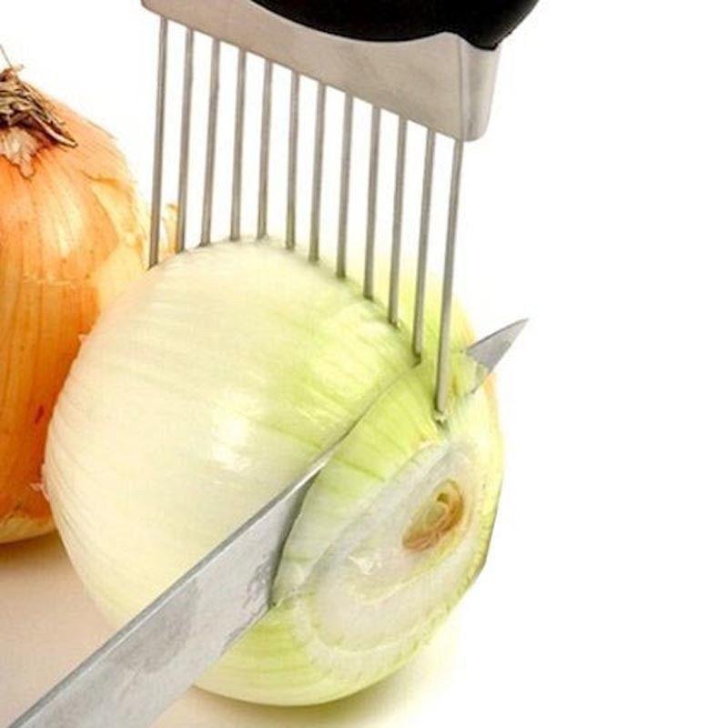 Stainless Steel Onion Holder Cutting Tool Slicer Vegetable tool Tomato Cutter Ki