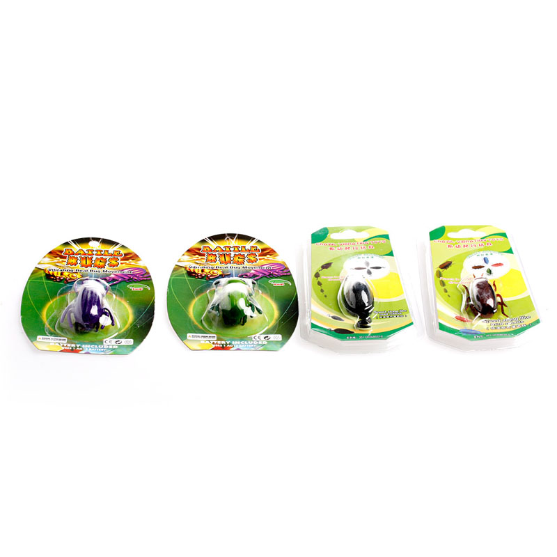 Купить с кэшбэком HBB New Creative Electronic Trick-Playing Toy Electric Simulation Insect Crawl Vibration Toys Cockroach/Mouse/Green Bug/Beet