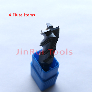 Image 2 - 4mm,6mm,8mm,10mm,12mm HRC45/55/60  4Flute or 3Flute Solide Carbide Roughing  End Mills  CNC router bit corn milling cutter Tools