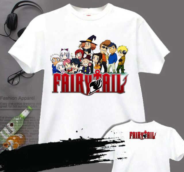 Fairy Tail Anime Logo Cotton Casual Fashion Men's T-shirt