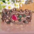 Turkish Bracelets With Stones Crystal Acrylic Bangle For Women Vintage Bracelet Anti Gold Plated Alloy Bijoux pulseira feminina