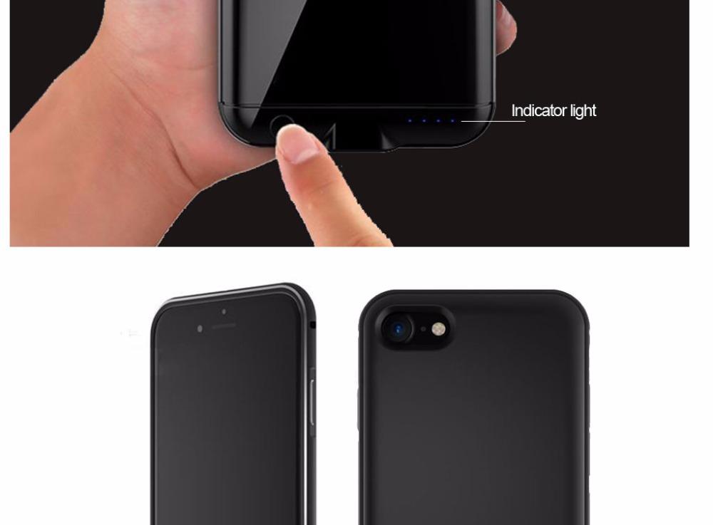 goldfox матовый ультратонкий 3600 мач батарея зарядное устройство чехол для iPhone 6 плюс внешнего резервного защитная крышка для для iPhone 6s плюс