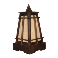 Decorative desk lamp made of solid wood and bamboo