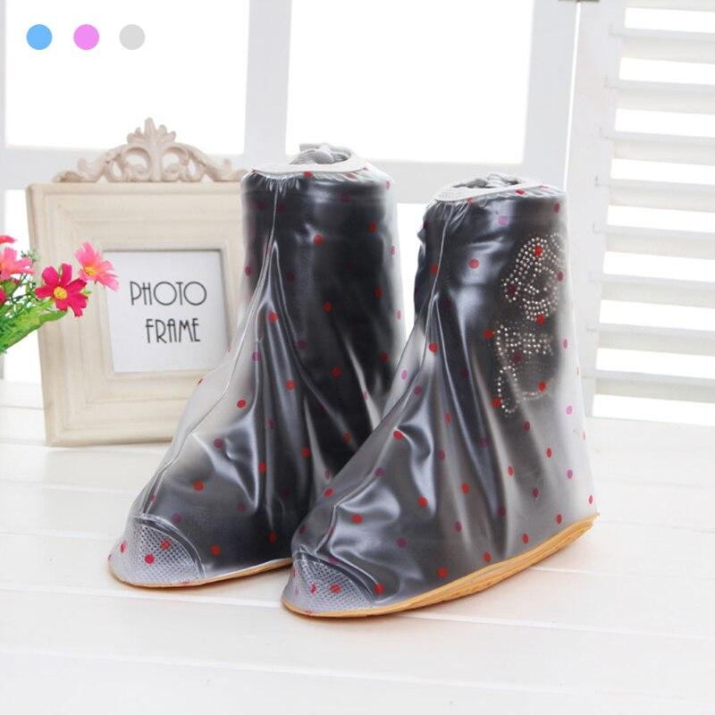 1 Pair KIds Rain Boots Set Antiskid Waterproof Dustproof covers Kid Children shoes shoes Stain resistant waterproof cover 45