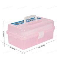 Manicure Salon Kit Accessories Multi Utility Storage 3 Layer Plastic Case Makeup Craft For Nail Art