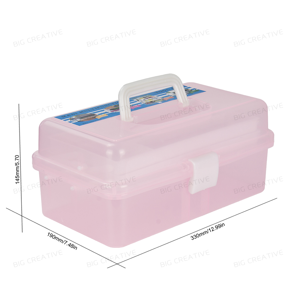 Manicure Salon Kit Accessories Multi Utility Storage 3 Layer Plastic Case Makeup Craft for Nail Art Makeup tools spark storage bag portable carrying case storage box for spark drone accessories can put remote control battery and other parts