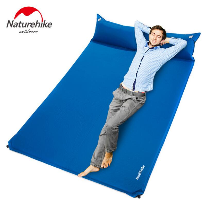 Naturehike Automatic Inflatable mattress double bed camping mat sleeping pad air mattress beach mat with pillow yoga mats durable thicken pvc car travel inflatable bed automotive air mattress camping mat with air pump
