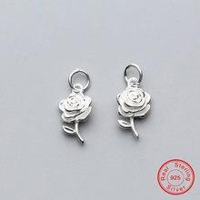 Uqbing 17*10*4 мм Серебряный цветок розы красивые подвески подвеска