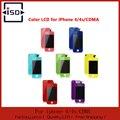 Colorida pantalla lcd con la pantalla táctil de reemplazo digitalizador para iphone 4 4G 4S + home button + Cubierta Trasera con el envío gratis