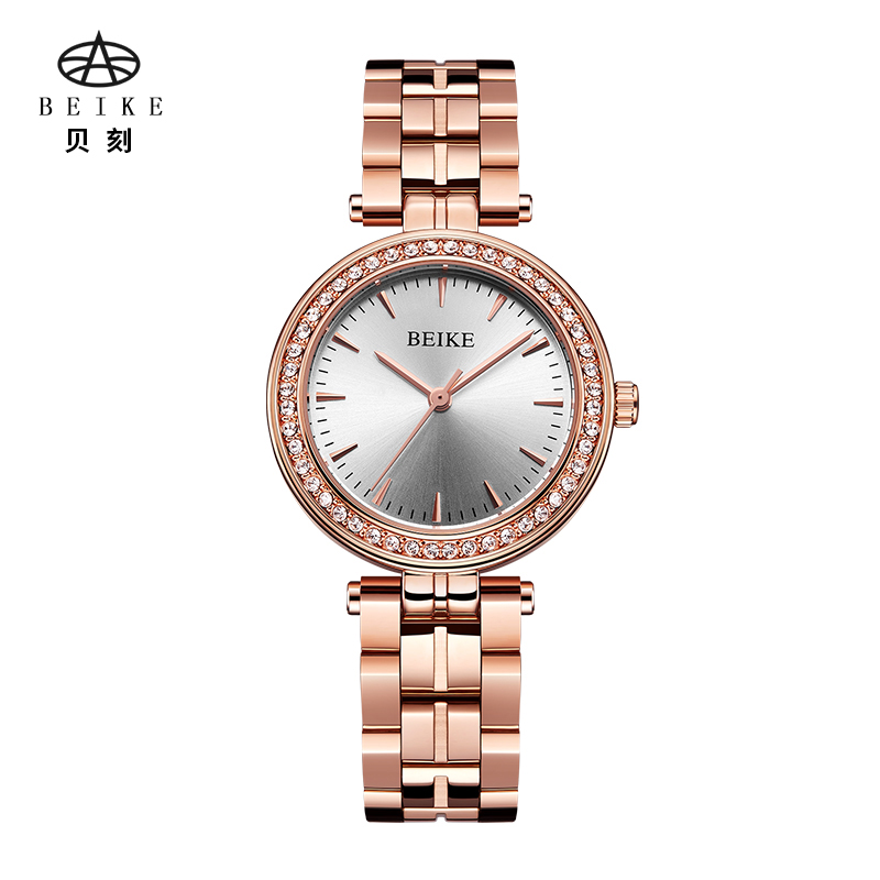 BEIKE watch women fashion luxury watch Reloj Mujer Stainless Steel Quality Diamond Ladies Quartz Watch Women Rhinestone Watches 2016 women diamond watches steel band vintage bracelet watch high quality ladies quartz watch