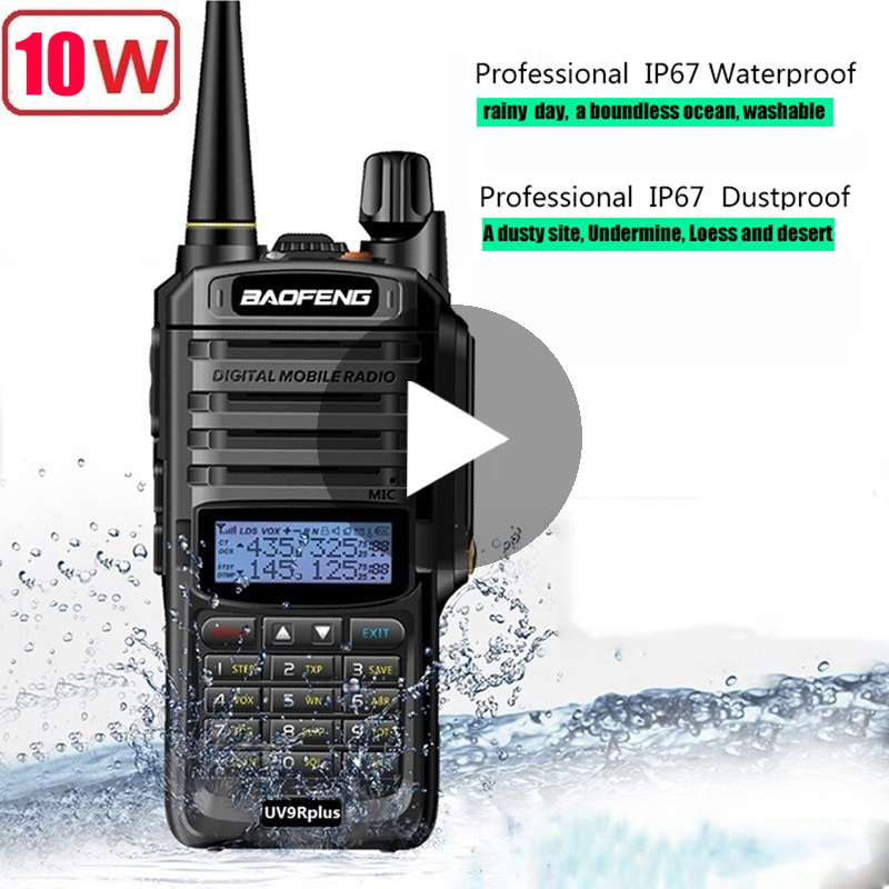 Baofeng UV 9R UV-9R UV9R Mais Poderoso À Prova D' Água IP67 Transceptor Baofeng Walkie Talkie Presunto VHF UHF Estação de Rádio Boafeng 10 w
