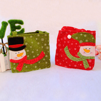 Popular Christmas Gift Tote Bag Red Color Gift Bag Holiday Party Favor Gift Bags Red/Green