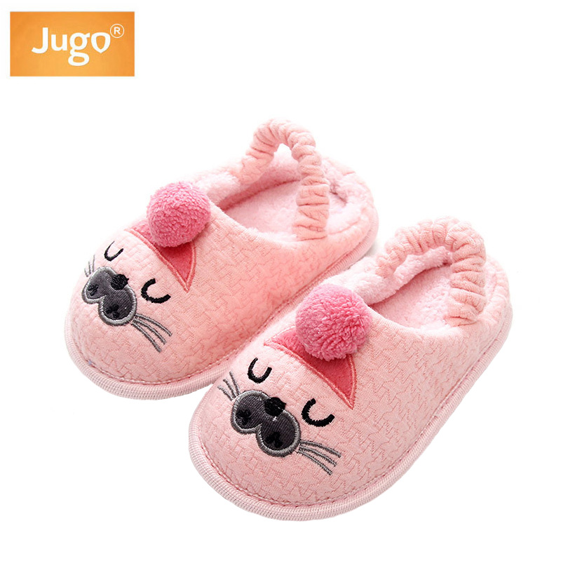 Kids Slippers Children Home Slippers Girls Cotton Cartoon Winter ...