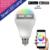 MiPOW Teléfono App Altavoz Bluetooth Bombilla Led E27 E26 4 W Audio Cambio de Color de Música inalámbrica Inteligente RGBW Bombilla Led de Control Remoto