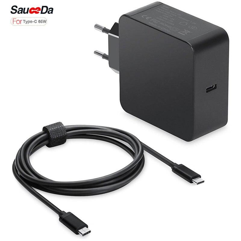 65 Вт Зарядное Устройство Типа С ЕС plug Адаптер Питания для ноутбука Зарядное Устройство Для xiaomi воздуха ноутбук для Macbook 12 13 дюймов для XPS 12×1