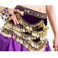 Cosplay Sexy Belly Dance India Dance Costume Waist Belt Diamond Drill Decor Single Currency Pleuche Waist Queen Chain Belt