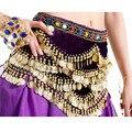 Cosplay Sexy Cinturón Traje de la Danza India Danza Del Vientre de Perforación de Diamantes Decoración Moneda Única Pleuche Reina Cintura Correa de Cadena