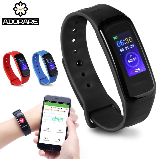 Смарт-фитнес трекер сердечного ритма браслет Смарт часы Для мужчин Цвет Экран Браслет Деятельность Мониторы браслет часы для Для мужчин Для женщин