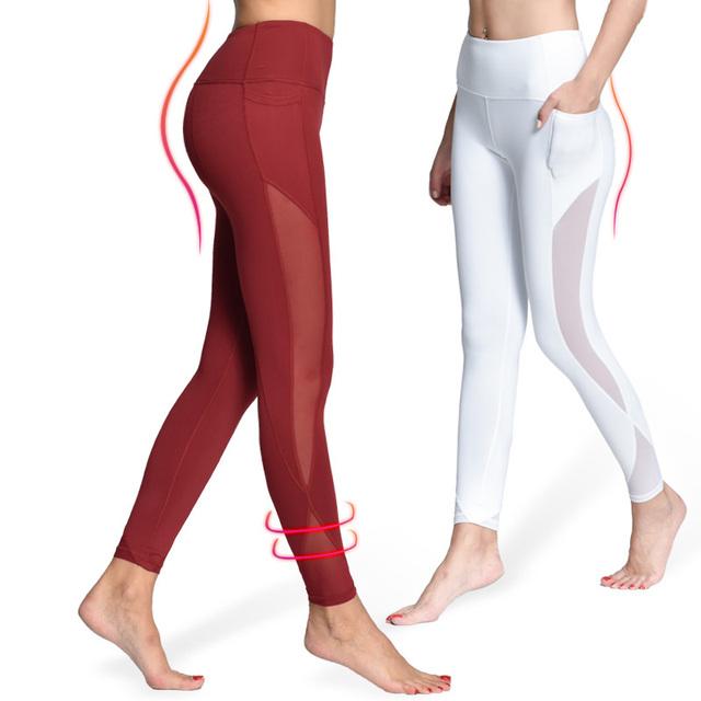 Leggings de yoga de compresión de las mujeres
