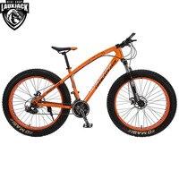 LOVELAUXJACK Mountain Fat Bike Steel Frame 24 Speed Shimano Mechanic Brake 26 X4 0 Wheel