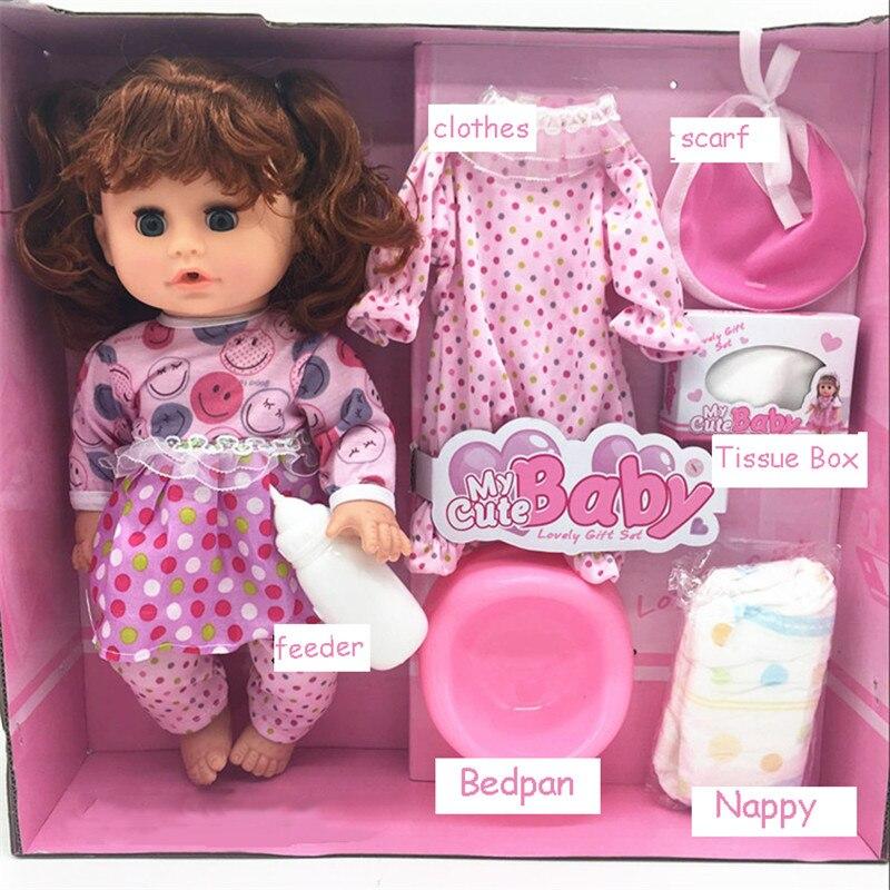 reborn Baby dolls kawaii Doll Toys for Girls gifts sound drink water pee blink eye baby bathing shower pretend play feeding doll kawaii baby dolls