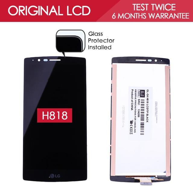 5.5 pulgadas 100% probado original de la marca 2560x1440 lcd para lg g4 dual h818 h818p lcd con pantalla táctil digitalizador asamblea