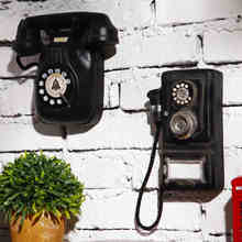 European Vintage Style wall hung Resin telephone model bar cafe Wall decoration