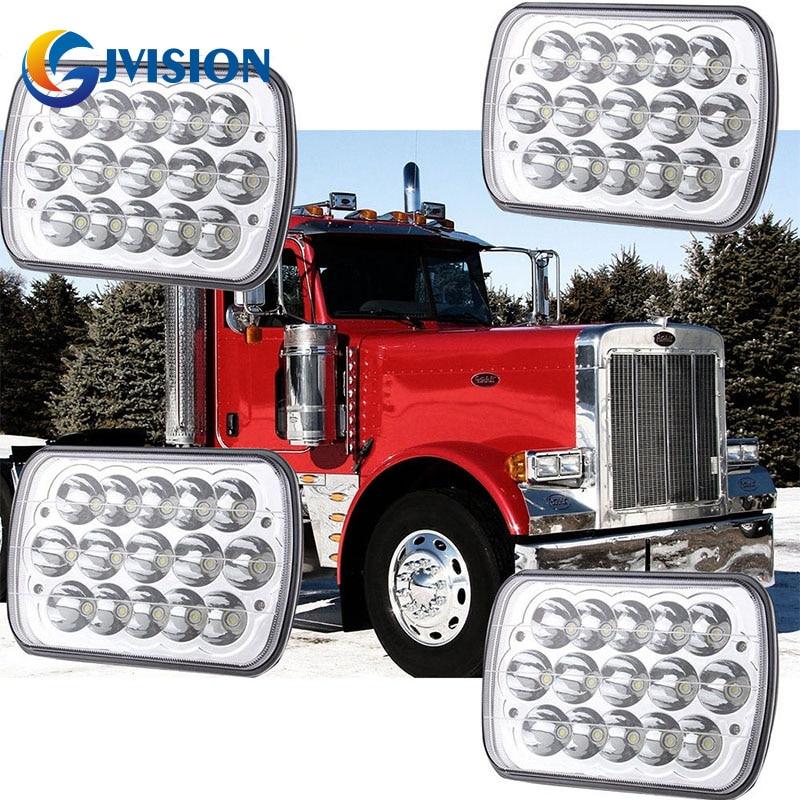 7х6 светодиодные фары светодиодные лампы прозрачный запечатанный пучка фар 5х7 для джип Чероки XJ в фары 6054 AntiFlicker