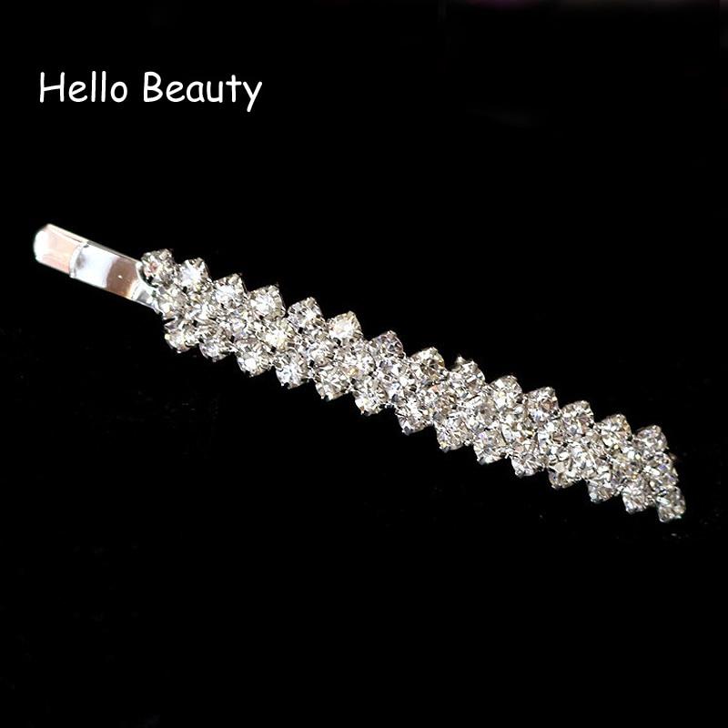 c42394123d 12 PCS Silver Color Korea Hair Accessories Crystal Fashion Stone ...
