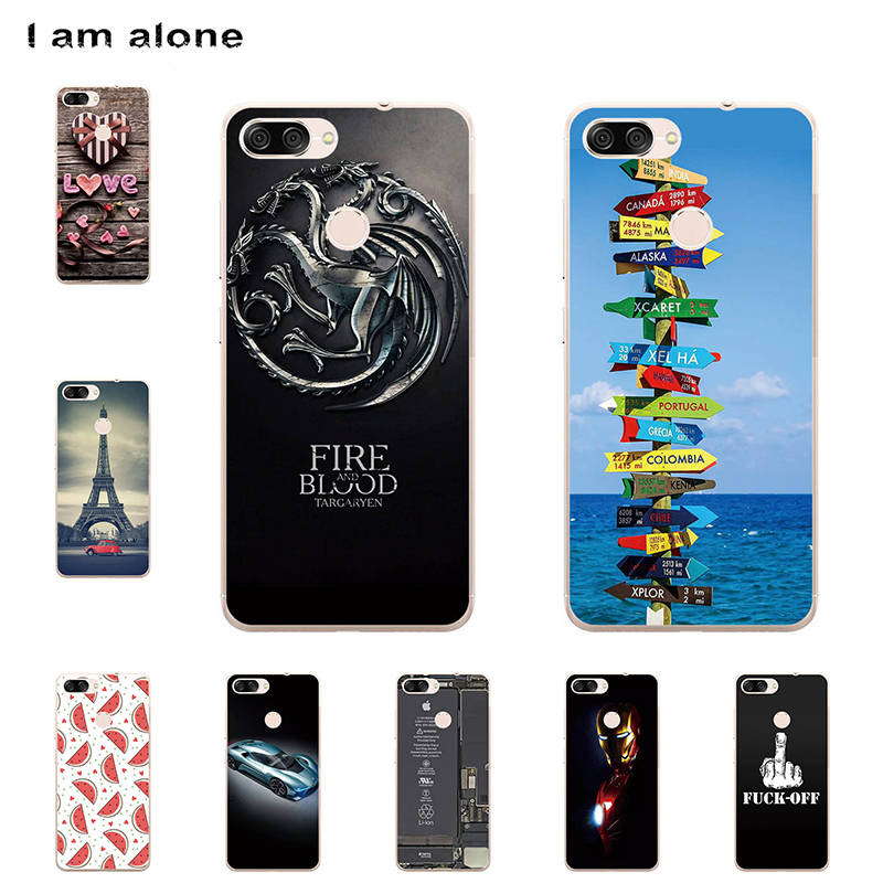 I am alone Phone Cases For Asus Zenfone Max Plus (M1) ZB570TL 5.7 inch Solf TPU Cellphone Fashion Cute Case For Asus ZB570TL