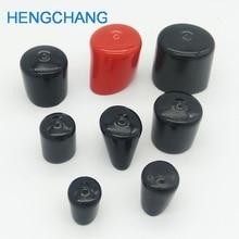 14 ミリメートル 30 ミリメートルゴムカバーエンドキャップ Pvc プラスチックケーブルワイヤースレッドカバービニールエンドキャップ PVC ゴム鋼ポールチューブパイプ保護 50 個