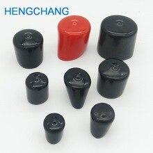 14mm 30mm גומי כיסוי סוף כובע PVC פלסטיק כבל חוט חוט כיסוי ויניל סוף כובע PVC גומי פלדת מוט צינור להגן 50pcs