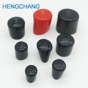 Image 1 - 14mm 30mm Rubber cover End cap PVC Plastic Cable wire thread cover vinyl End cap PVC rubber steel pole tube pipe protect 50pcs