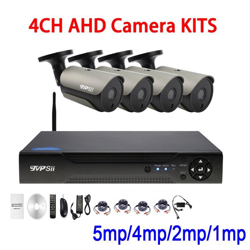Шт. 36 светодио дный шт. инфракрасный светодиодный 5mp/4mp/2mp/1.3mp/1mp водостойкий 4CH 4 канала wifi AHD CCTV камеры скрытого видеонаблюдения DVR комплекты Бе...