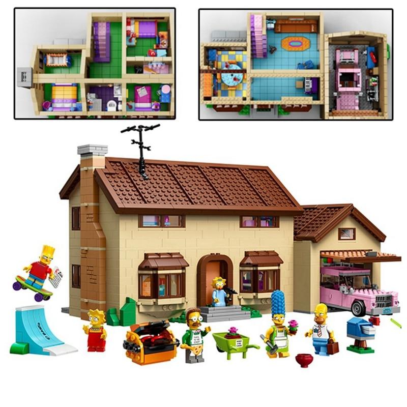 Dhl FREE LEPIN 16005 the Simpsons House Lepin 16004 the Kwik-E-Mart legoing Building Blocks Bricks Compatible Boys Gifts Figure конструктор lepin creators simpsons магазин на скорую руку 2220 дет 16004