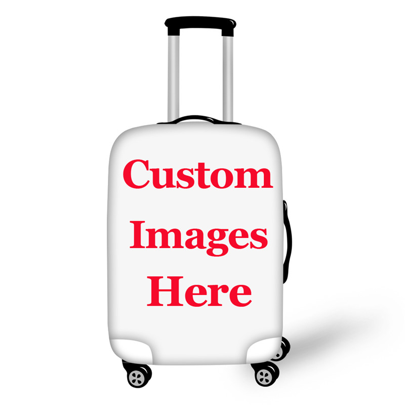 INSTANTARTS Your Image Here Customized Pattern Elastic Luggage Protective Cover With Zipper Apply To 18-30 Inch Dust Case Covers