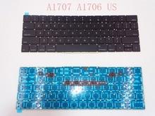 Оригинальная клавиатура A1707 A1706 2016 года США для Macbook Pro Retina 15 дюймов A1707 Замена EMC 3162