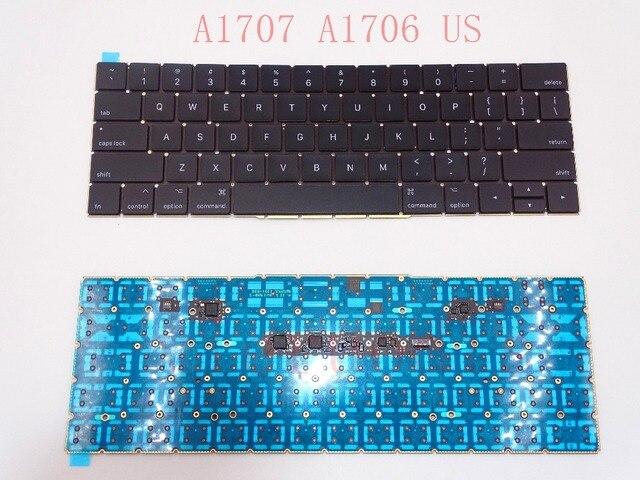 """オリジナルA1707 A1706キーボード2016年米国macbook proの網膜15 """"A1707交換emc 3162"""